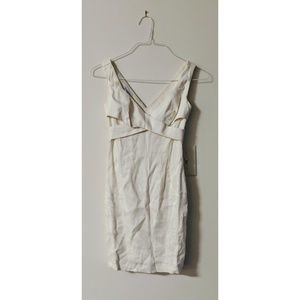 Bebe cream linen blend dress size 00